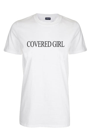 Covered Girl Logo - White