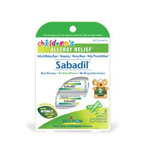 Children's Sabadil® Pellets by Boiron - 2 tubes