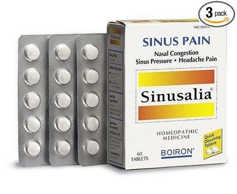 Sinusalia® Tablets Sinus Relief, 60 Tablets (Pack of 3) Boiron®- CMBO