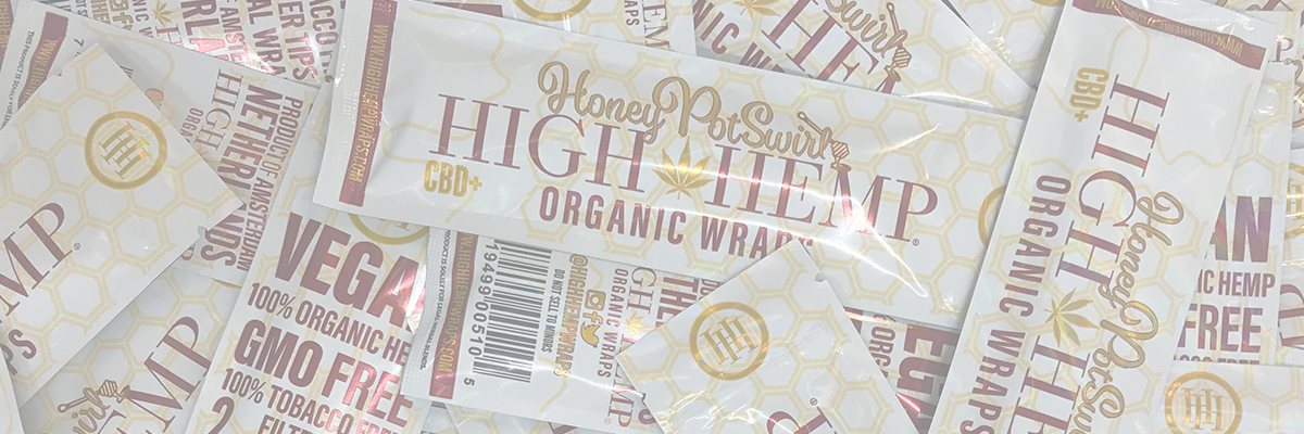 High Hemp Honey Pot Swirl Hemp Blunt Wraps