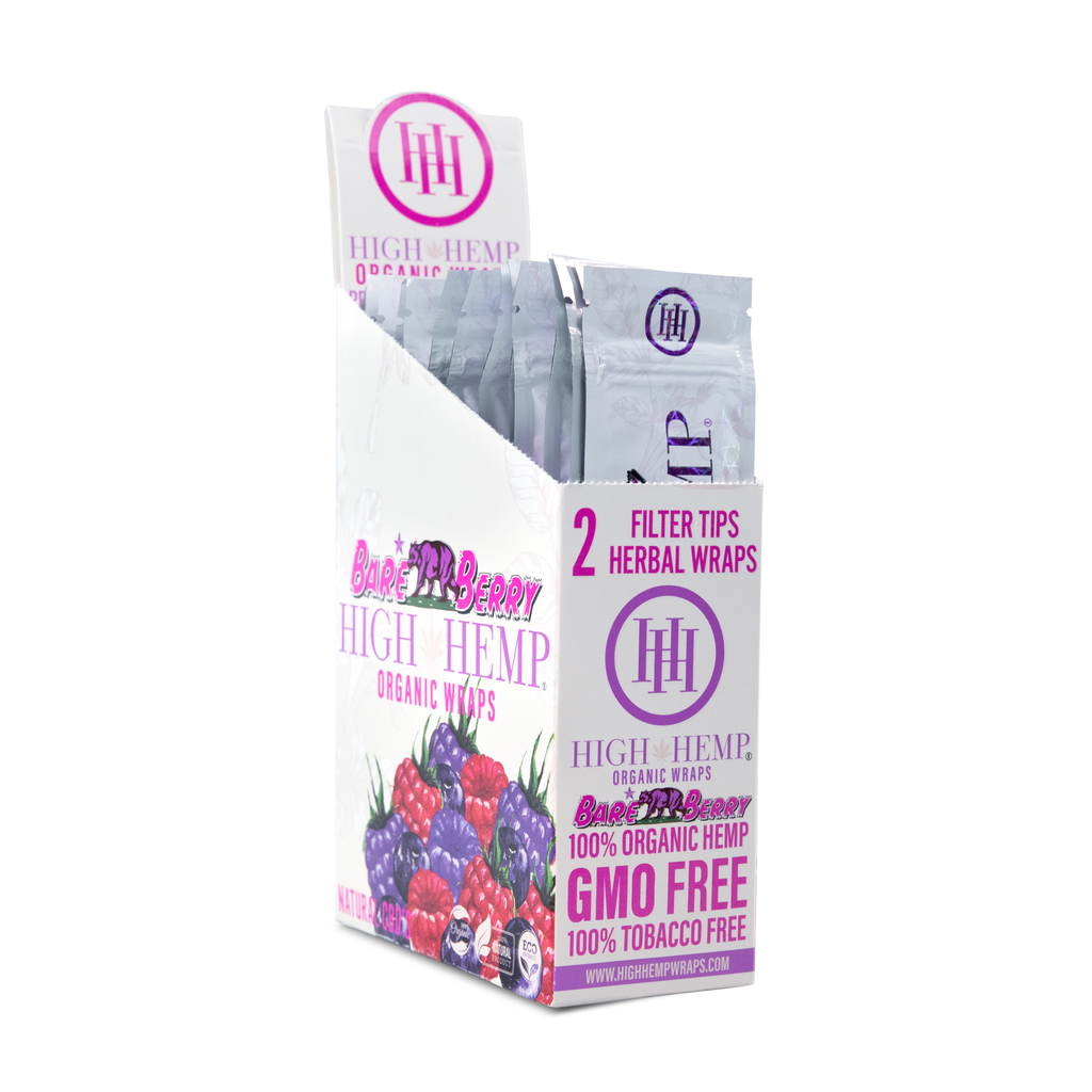 High Hemp Organic Wraps Bare Berry - High Hemp Herbal Wraps