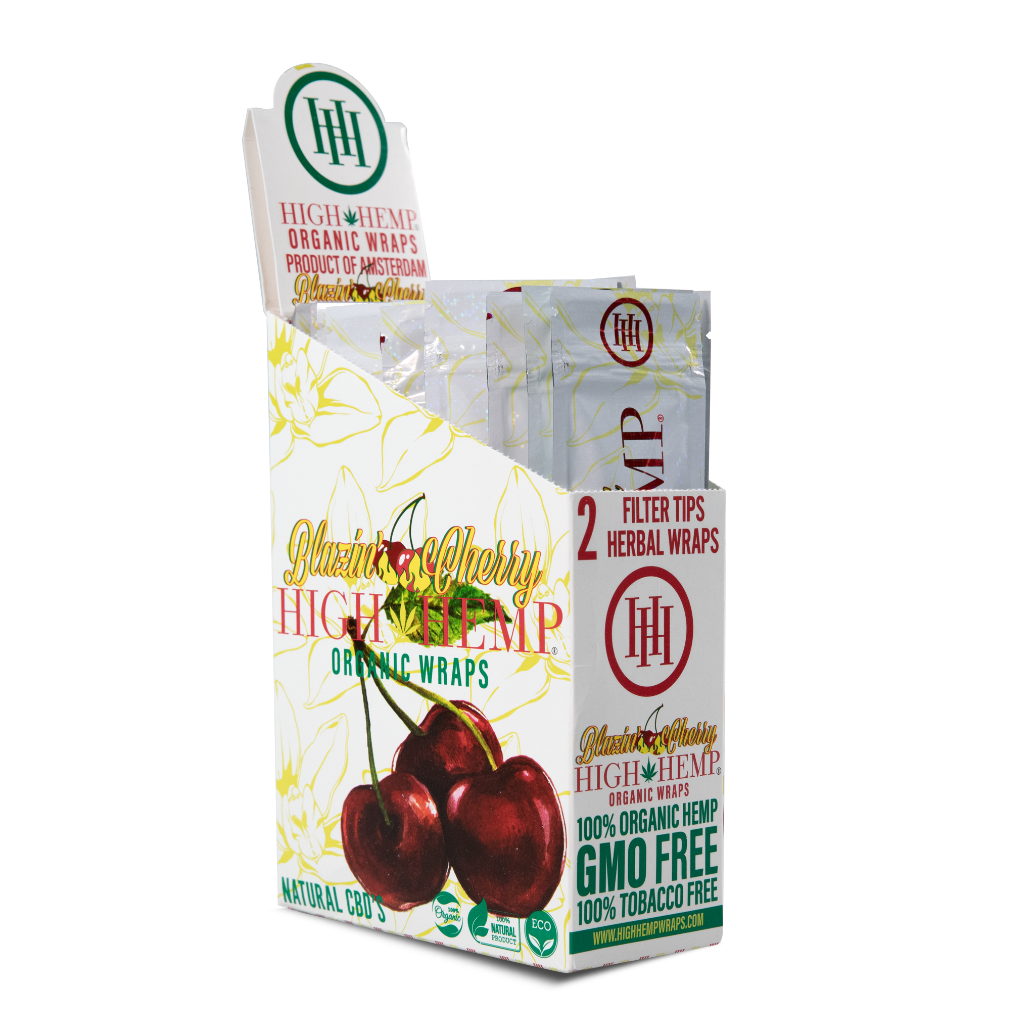 High Hemp Organic Wraps Blazin' Cherry - High Hemp Herbal Wraps