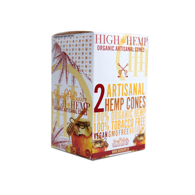 High Hemp Organic Wrap Cones Honey Pot Swirl
