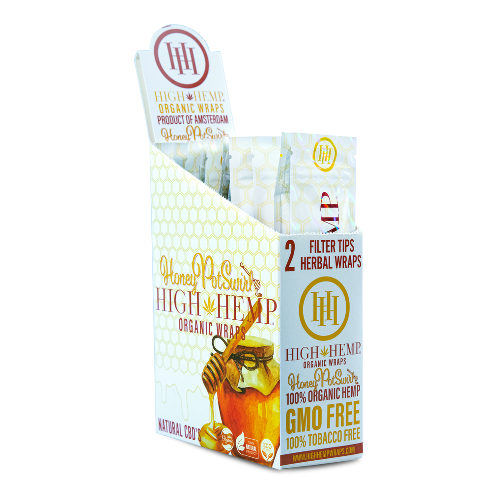 High Hemp Organic Wraps Honey Pot Swirl - High Hemp Herbal Wraps