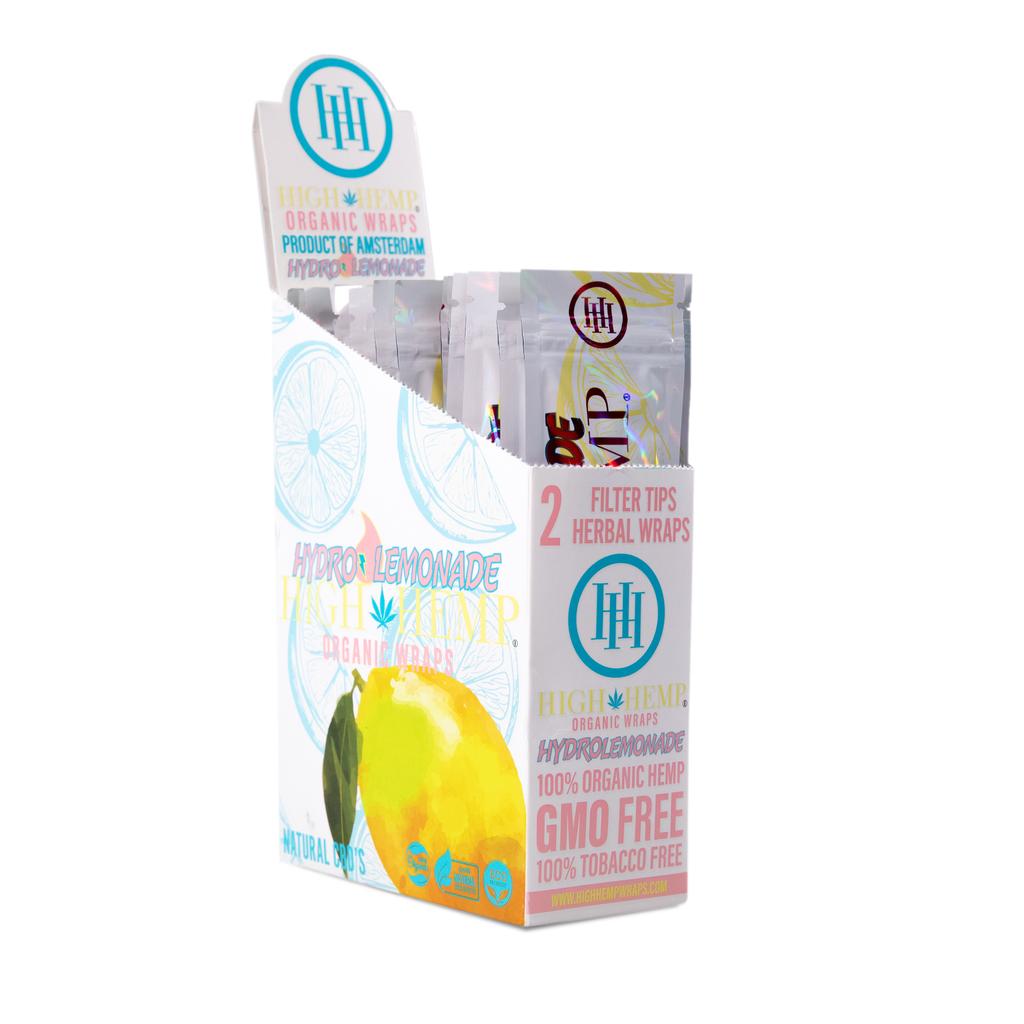 High Hemp Organic Wraps Hydro Lemonade - High Hemp Herbal Wraps
