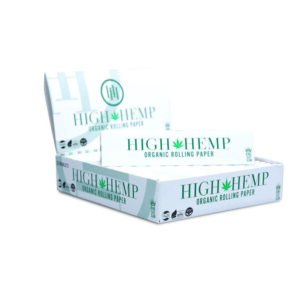 High Hemp Organic Rolling Paper King Size Slim - High Hemp Herbal Wraps
