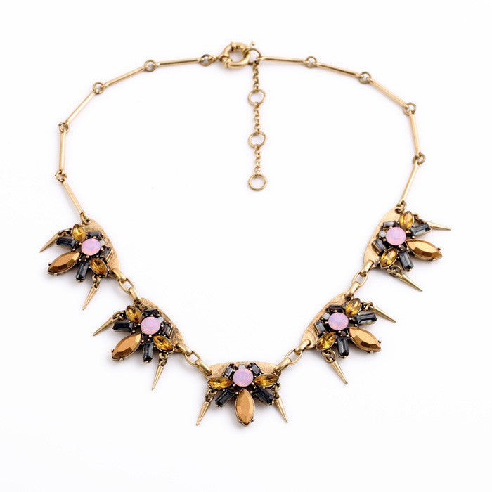 Adalisa Necklace in pink and bronze