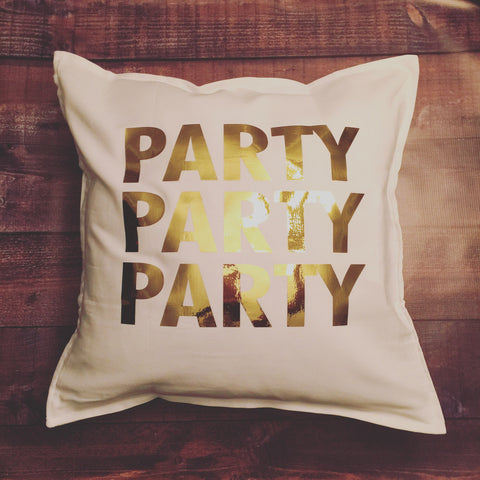 Party Party Party pillow