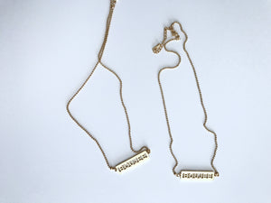 Boujee Name Plate Necklace