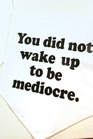 You did not Wake Up to be Mediocre Canvas Wall Banner