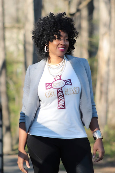 Brown Girl Blessed Statement Tee