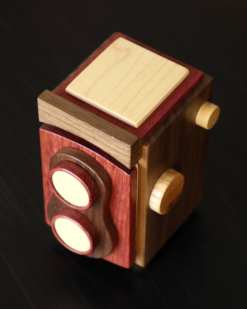 TogTees TLR Wood Camera - Wood Handmade Gift for Twin Lens Reflex Photographers