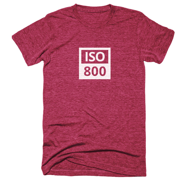 TogTees ISO 800 Photography Tshirt Gift for Photographers Infrared