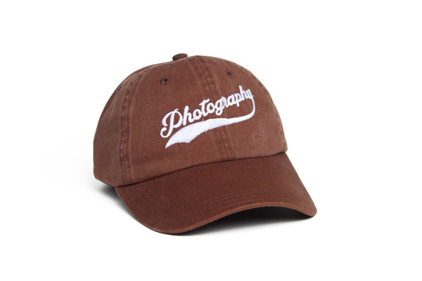 Photography Dad Hat Ball Cap Gift for Photographers from TogTees Sepia