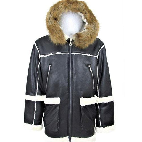 Men's Faux Shearling Jacket