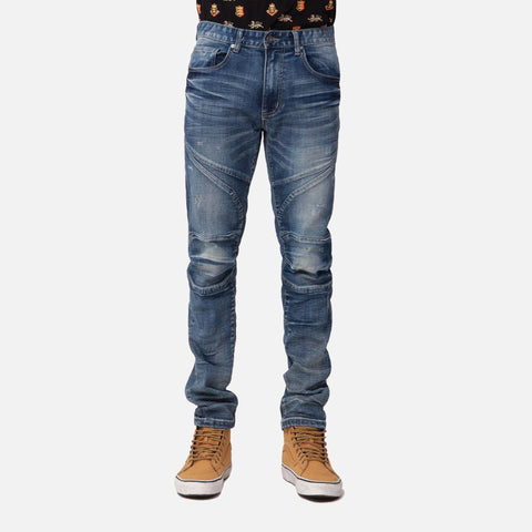 Smoke Rise Slim Biker Jeans (Tonic Blue)