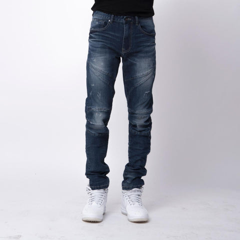 Smoke Rise Slim Biker Jeans (French Blue)
