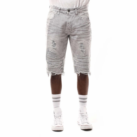 Smoke Rise Twill Shorts (Light Grey)