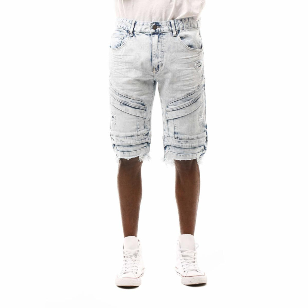 Smoke Rise Fashion Denim Shorts (LT Blue Mud)