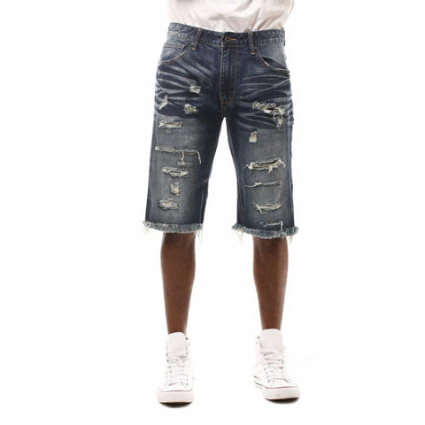 Smoke Rise Fashion Denim Shorts