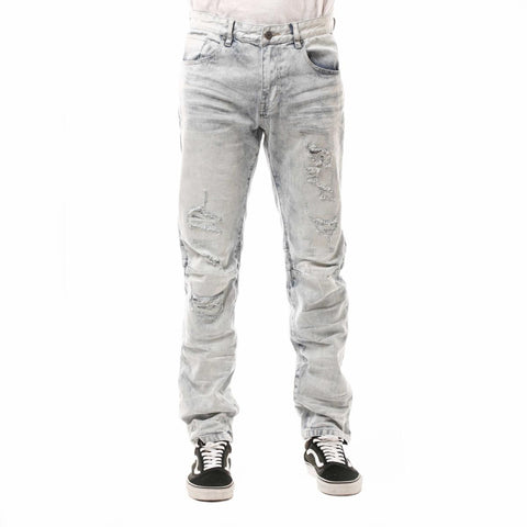 Smoke Rise Rip & Repair Jeans (Jersey Blue)