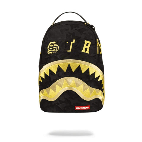 Sprayground Destroy Shark (Gold Camo) Backpack