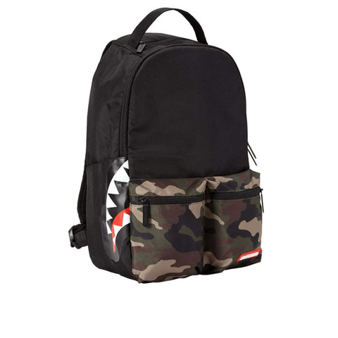 Sprayground Camo Side Shark Double Cargo Backpack