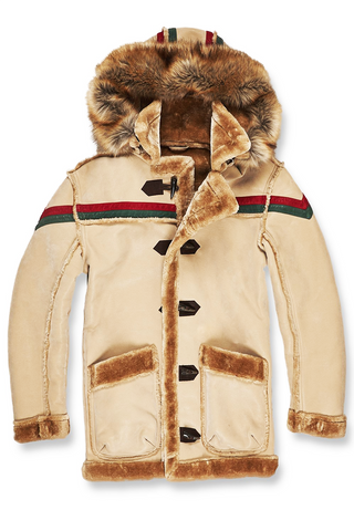 Jordan Craig Tuscany Striped Shearling Jacket