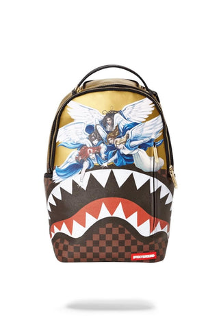 Sprayground Angels Gold Sharkmouth Backpack
