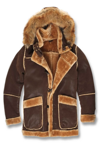 Jordan Craig Denali Shearling Jacket (Brown)
