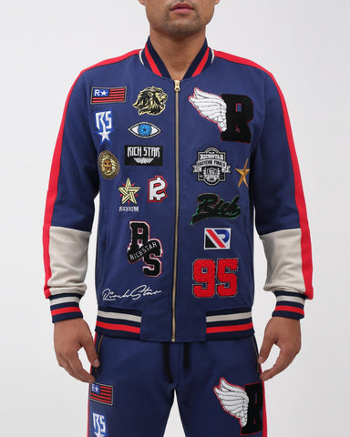 Rich Star Patch Varsity Jacket