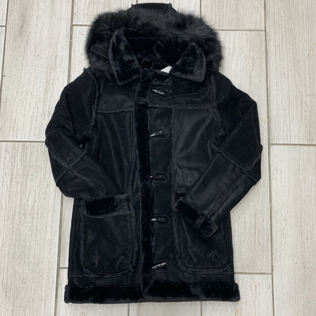 Jordan Craig Shearling Coat (Black)