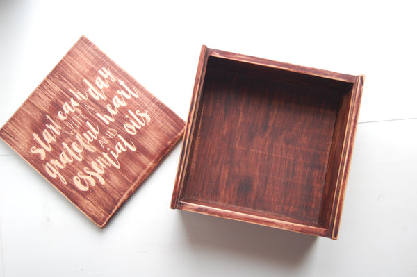 Handcrafted Essential Oil Box