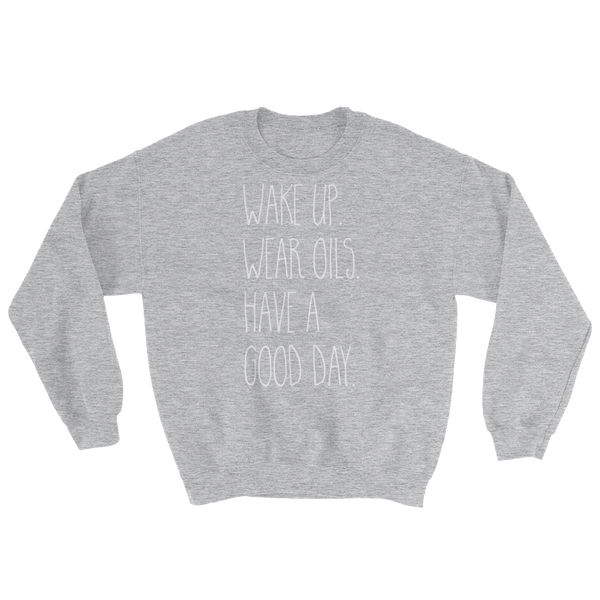 Wake Up Wear Oils Raglan Sweatshirt