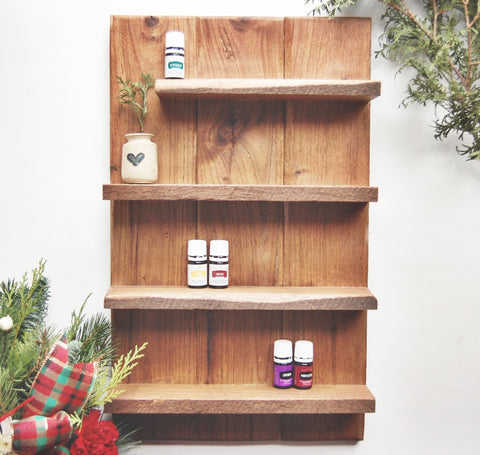 Handcrafted Essential Oil Wall Shelf