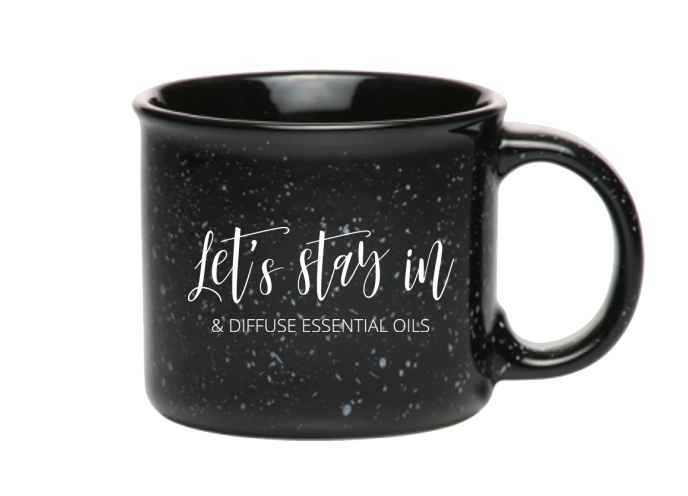 Let's Stay In & Diffuse Camper Mug