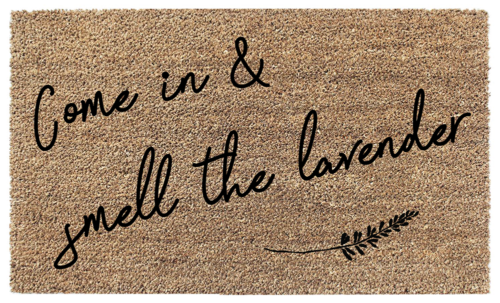 Smell the Lavender Coir Doormat