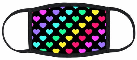RAINBOW HEARTS FACE MASK