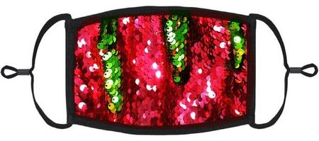RED/GREEN SEQUIN FACE MASK