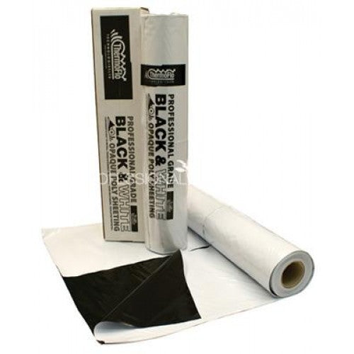 Thermoflo Black & White Poly  6mm by the foot (10 ft wide)
