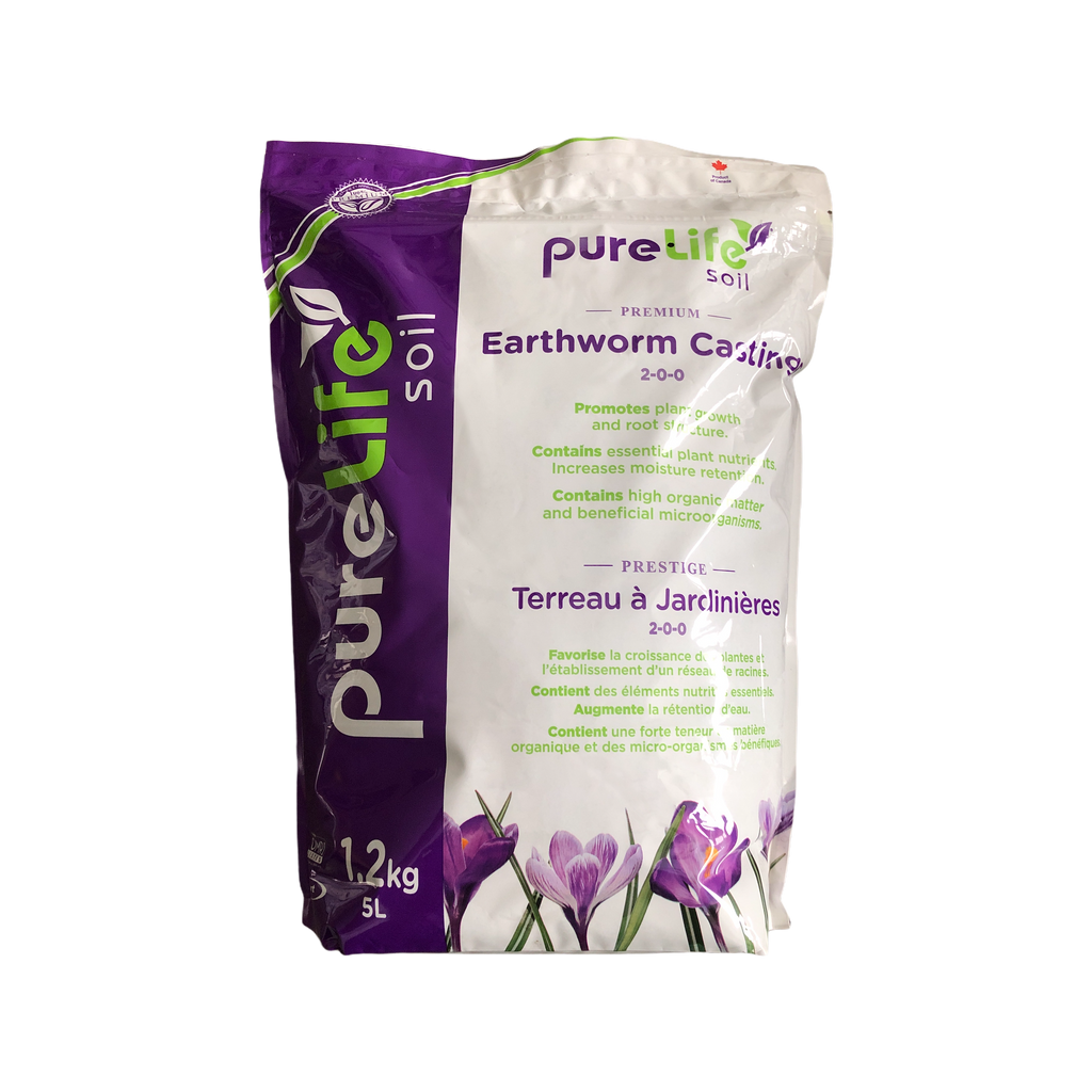 Pure Life Certified Organic Worm Castings 5L