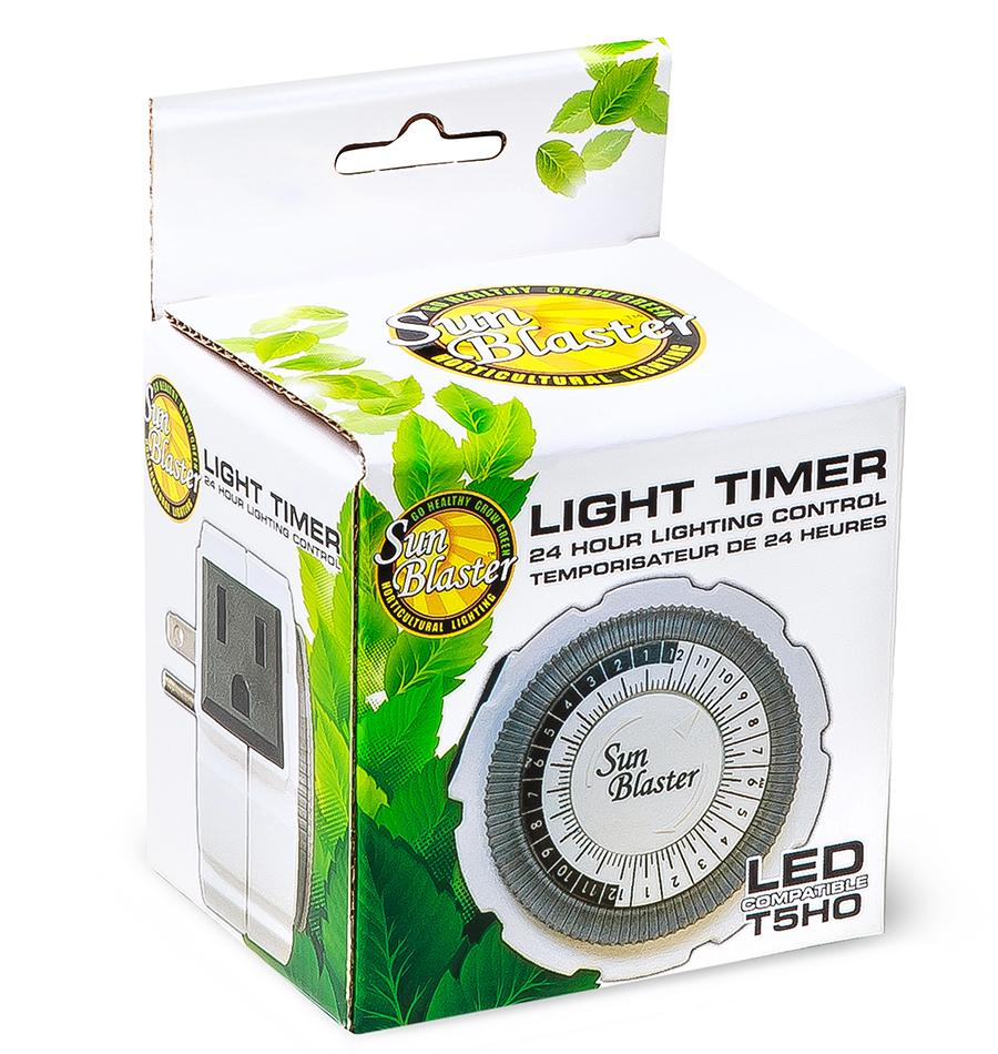 SunBlaster 24 Hour Analog Single Outlet Grounded Timer 5Amp