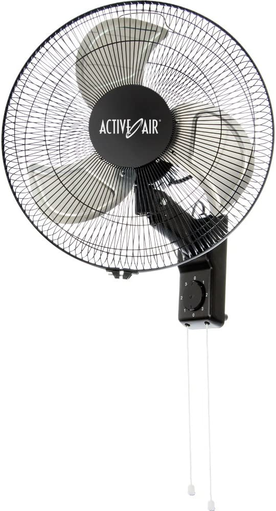 "Active Air 16"" Metal Wallmount Fan"