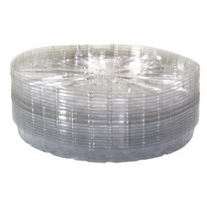 Clear Plastic Saucer 8""