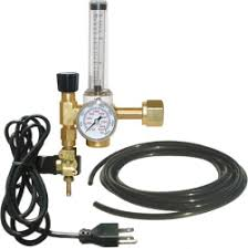CO2 Regulator with Flowmeter and solenoid