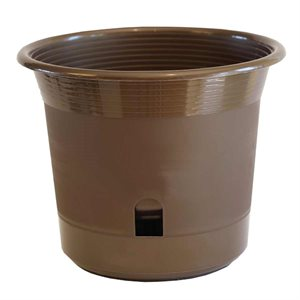 "Eezy Gro Self Watering Planter 8"" Mocha"