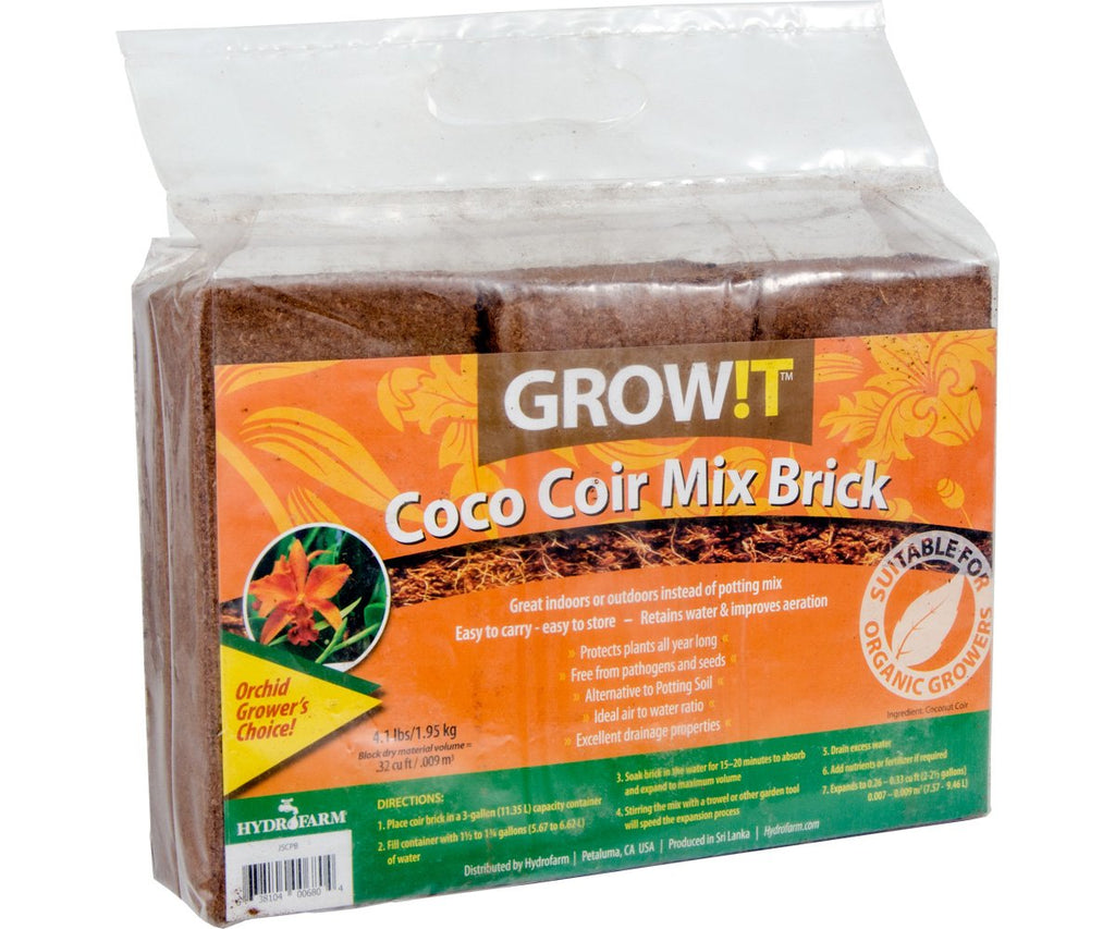 Grow !t Coco Mix Brick 3pk