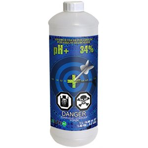 Nutri+ pH up 1L (34% potassium hydroxide)