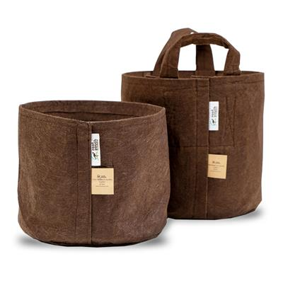 Root Pouch Fabric Pot Boxer Line 20 Gal Brown with Handles