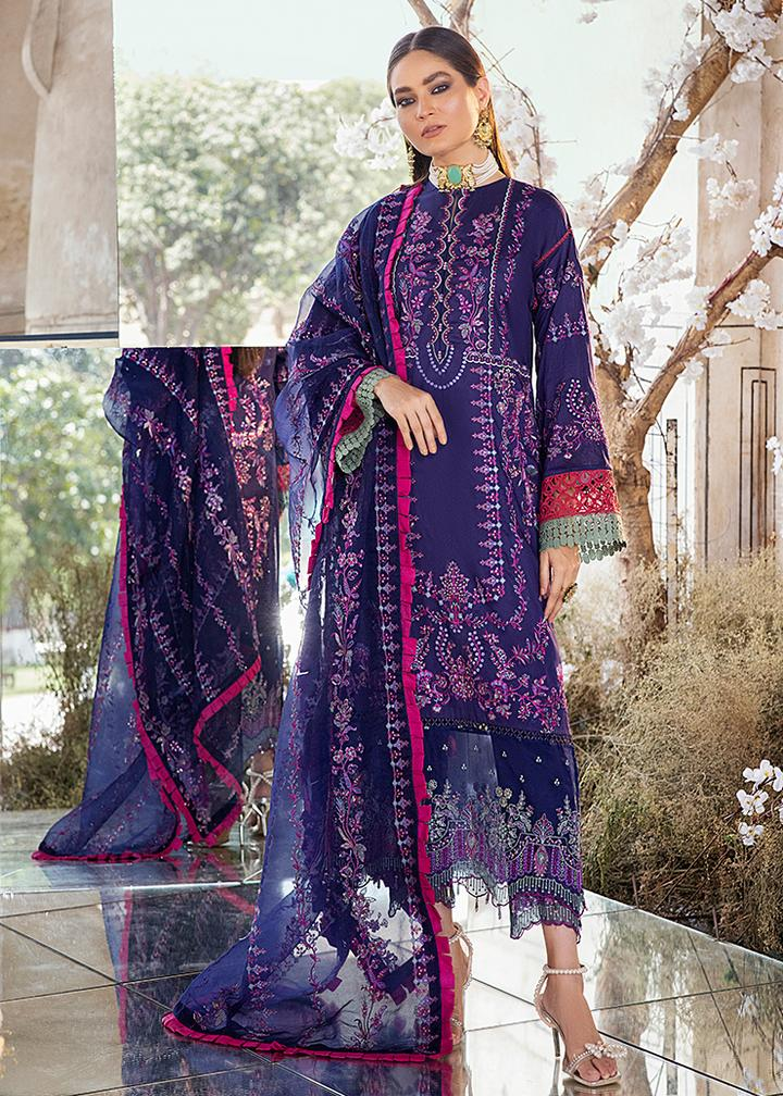 Afrozeh - Luxury Lawn 2021 - Cyra - Blossoms by Azz